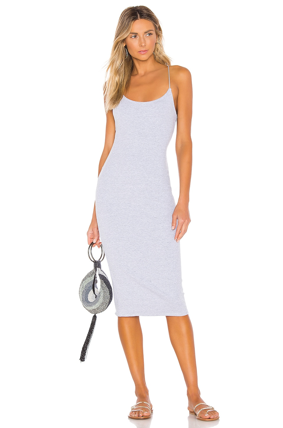 Privacy Please Brooklyn Midi Dress in Heather Grey