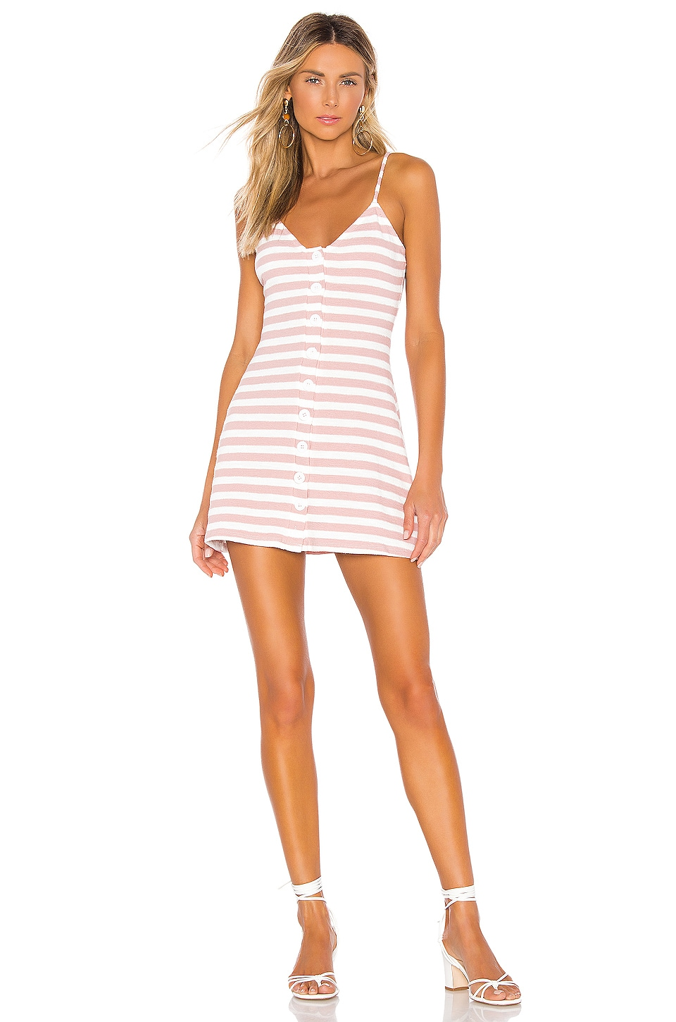 Privacy Please Hyde Mini Dress in Pink Stripe