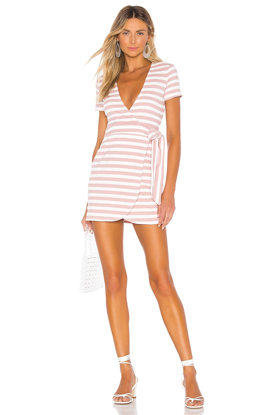 Privacy Please Sunkist Robe in Pink Stripe