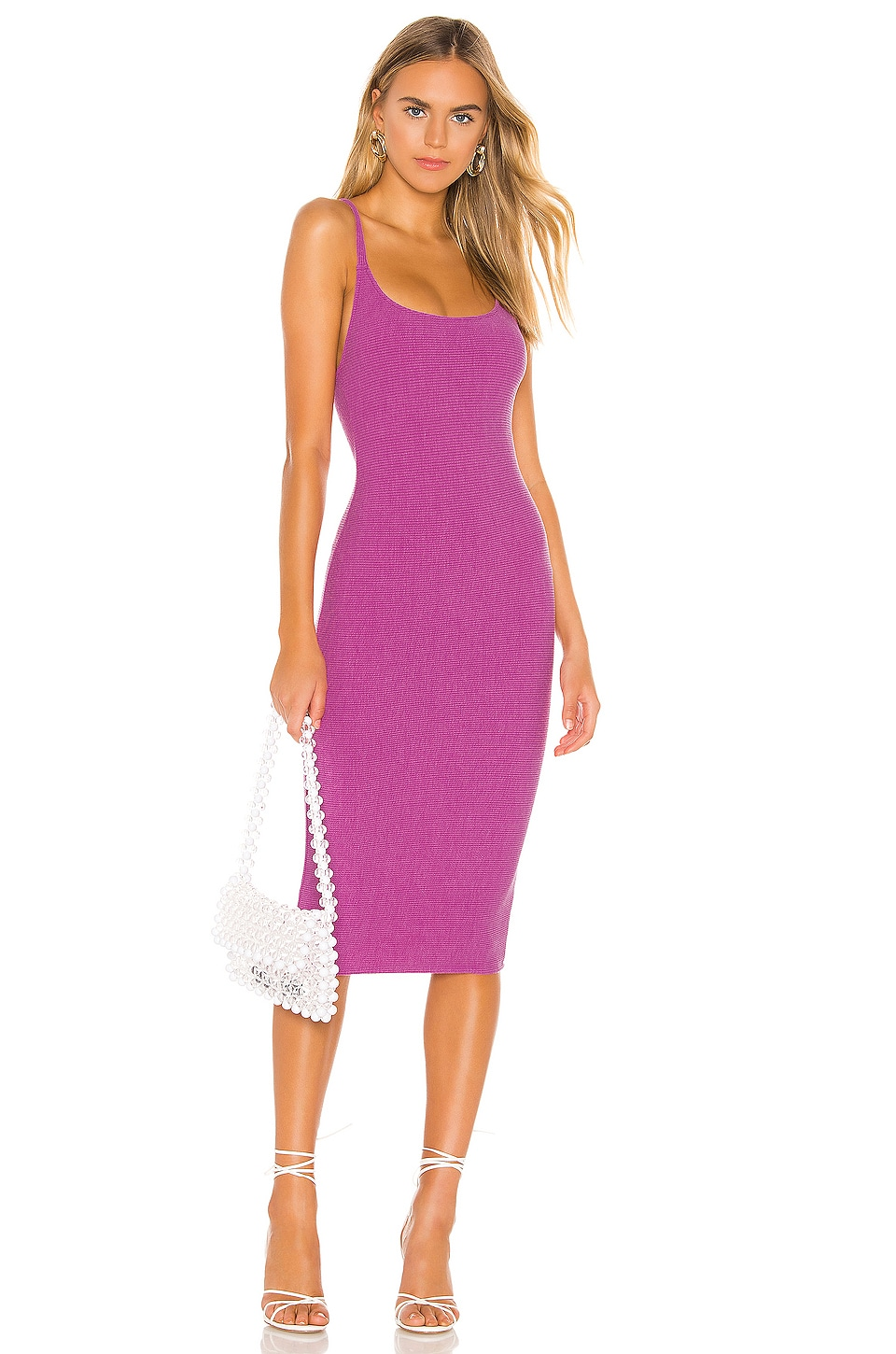 Privacy Please Lydia Midi Dress in Punch Purple