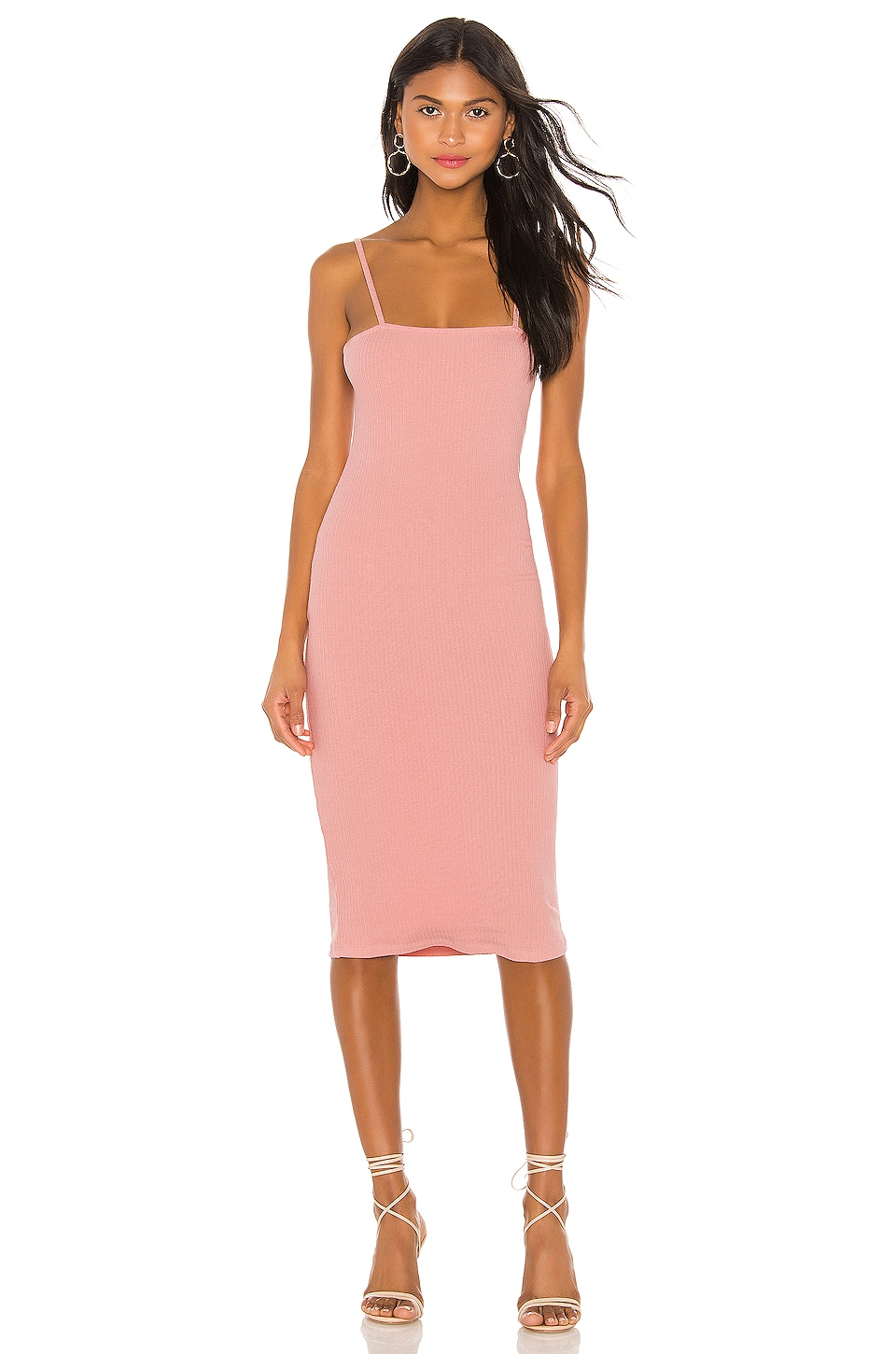 Privacy Please Tess Midi Dress in Rose Pink