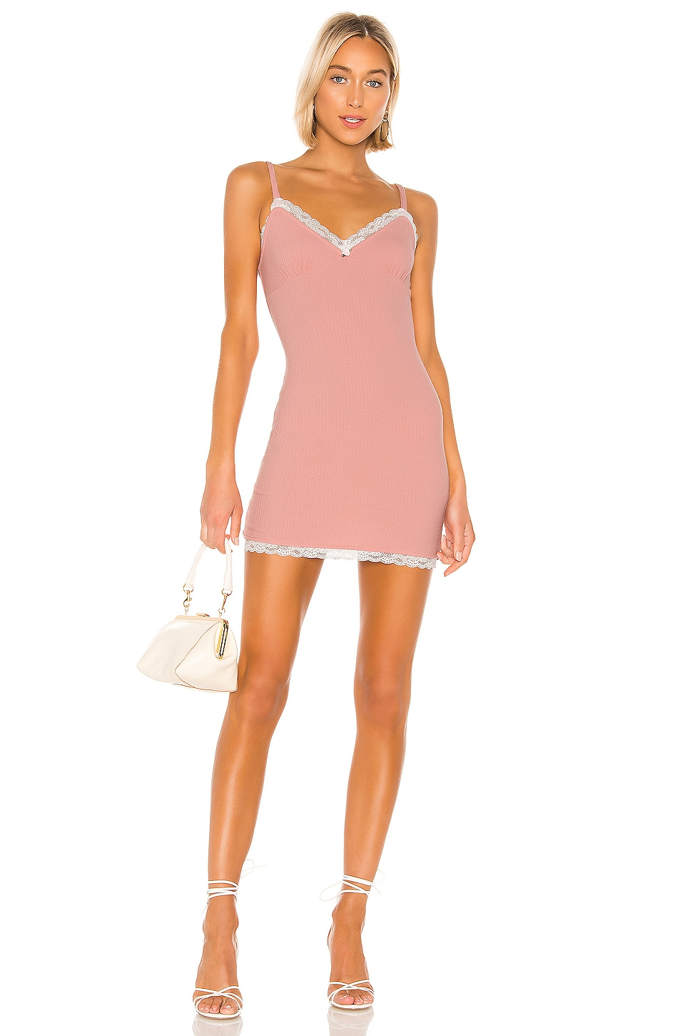 Privacy Please Shannon Mini Dress in Rose Pink