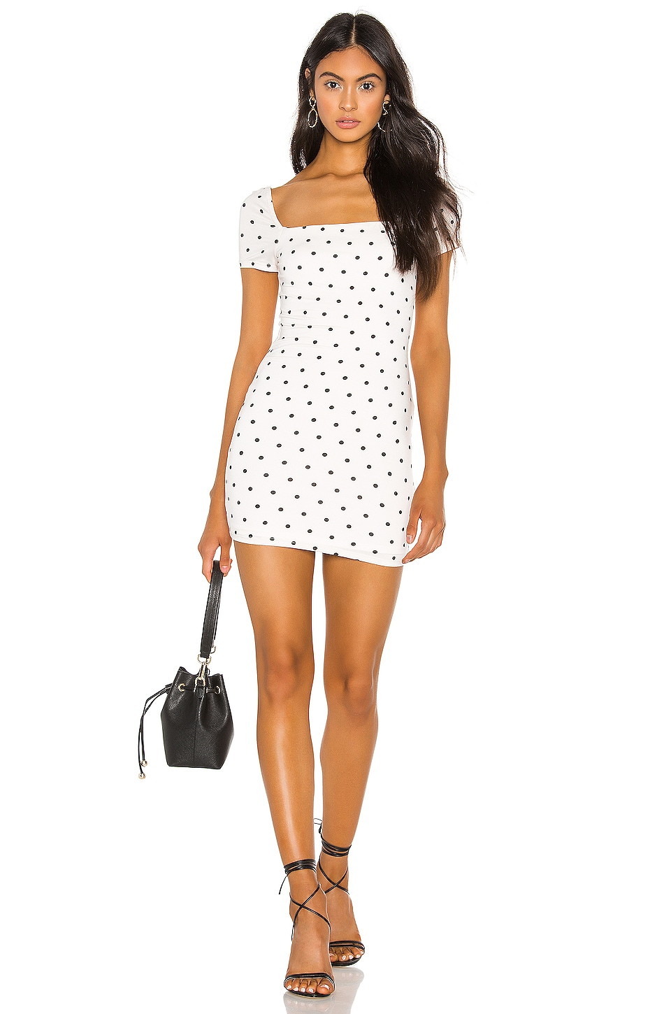 Privacy Please Cora Mini Dress in Black Dot