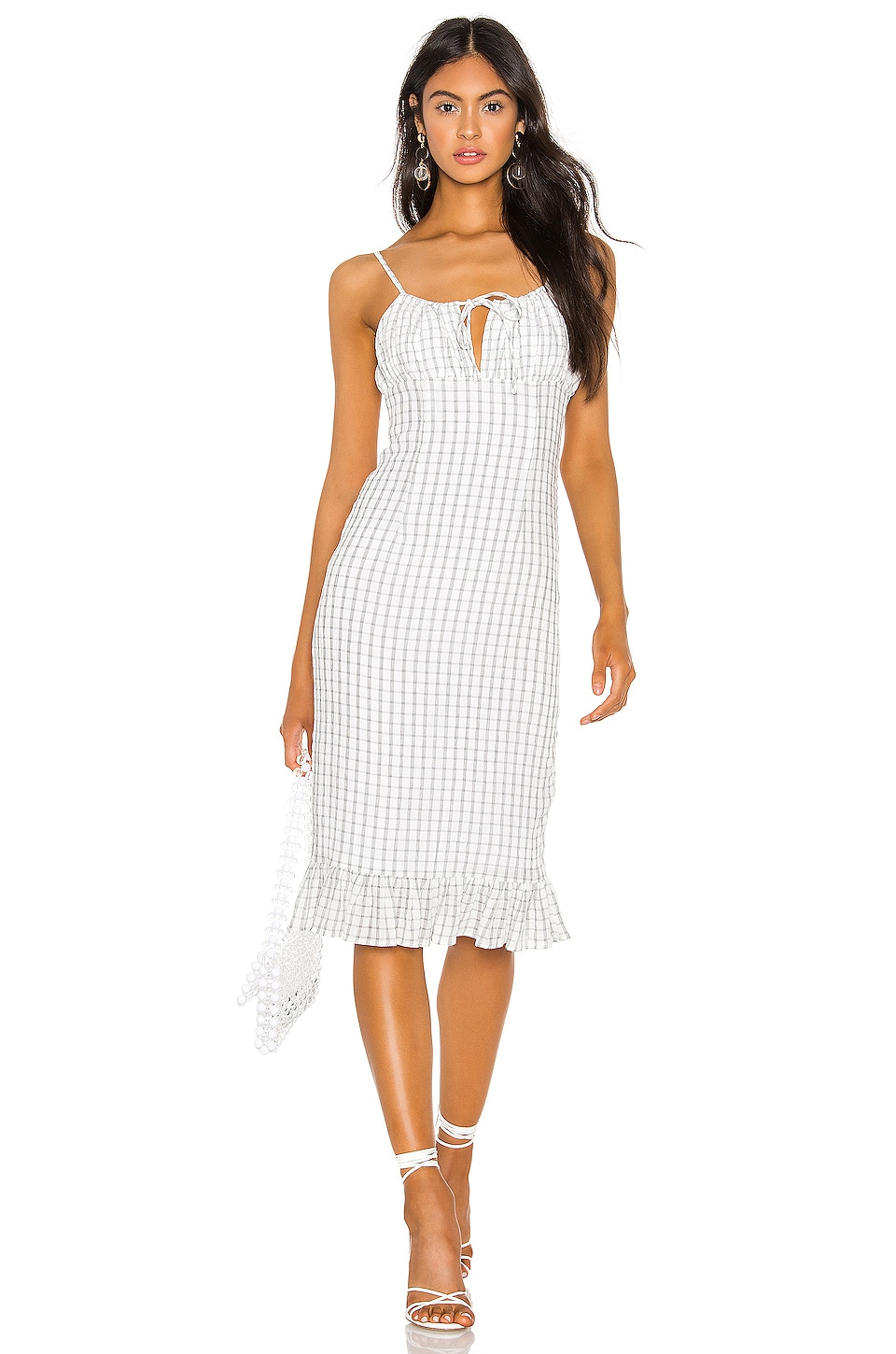 Privacy Please Hanna Midi Dress in Black & White
