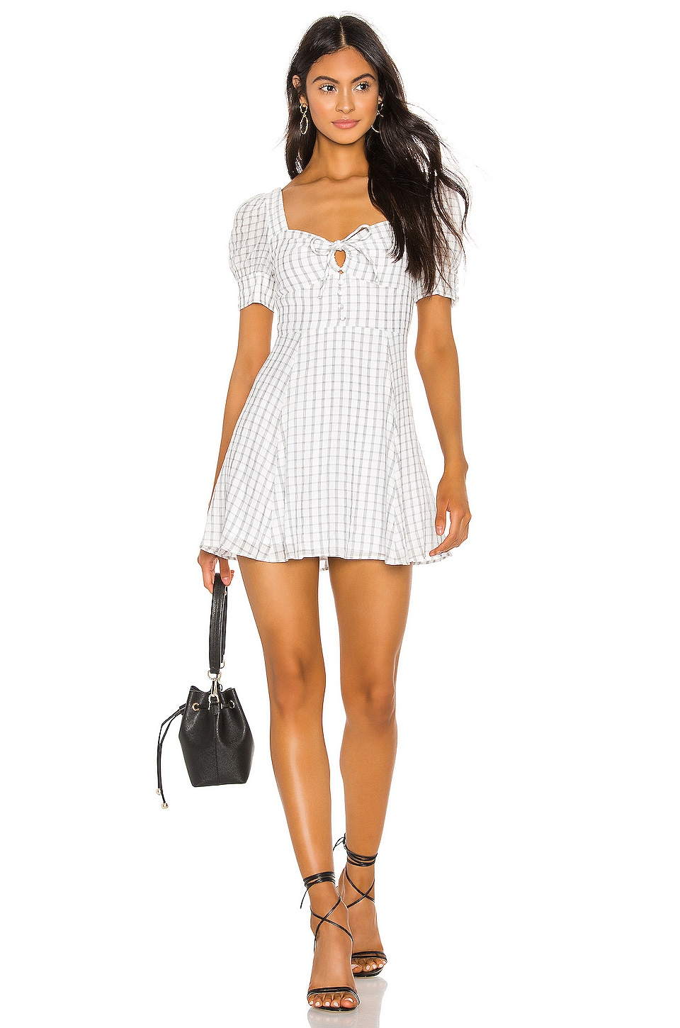 Privacy Please Darla Mini Dress in Black & White