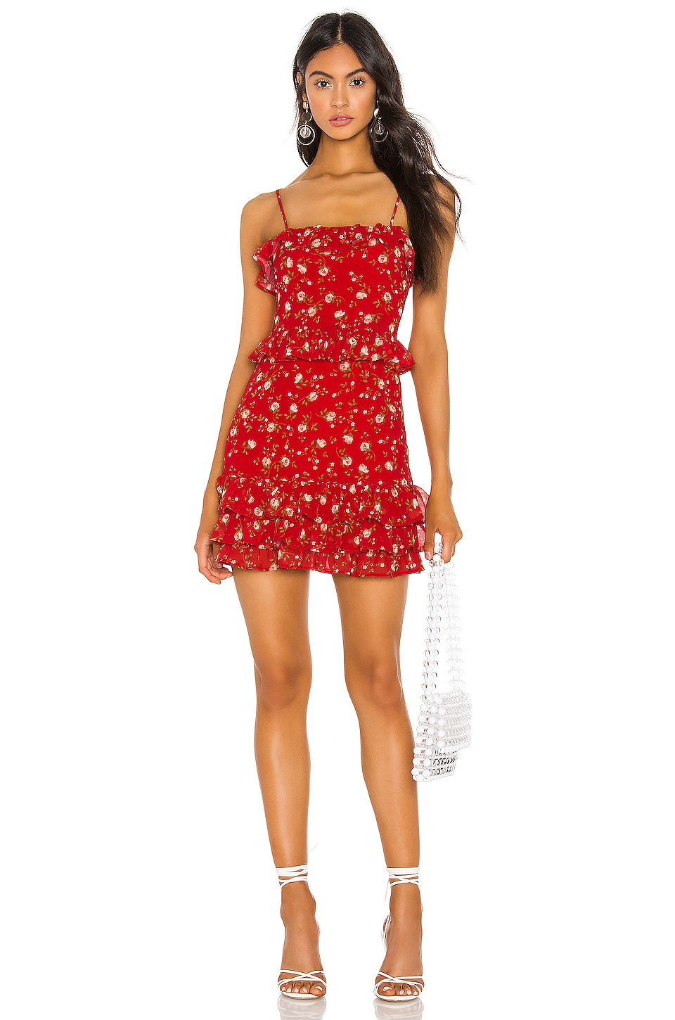 Privacy Please Dakota Mini Dress in Red Emma Floral