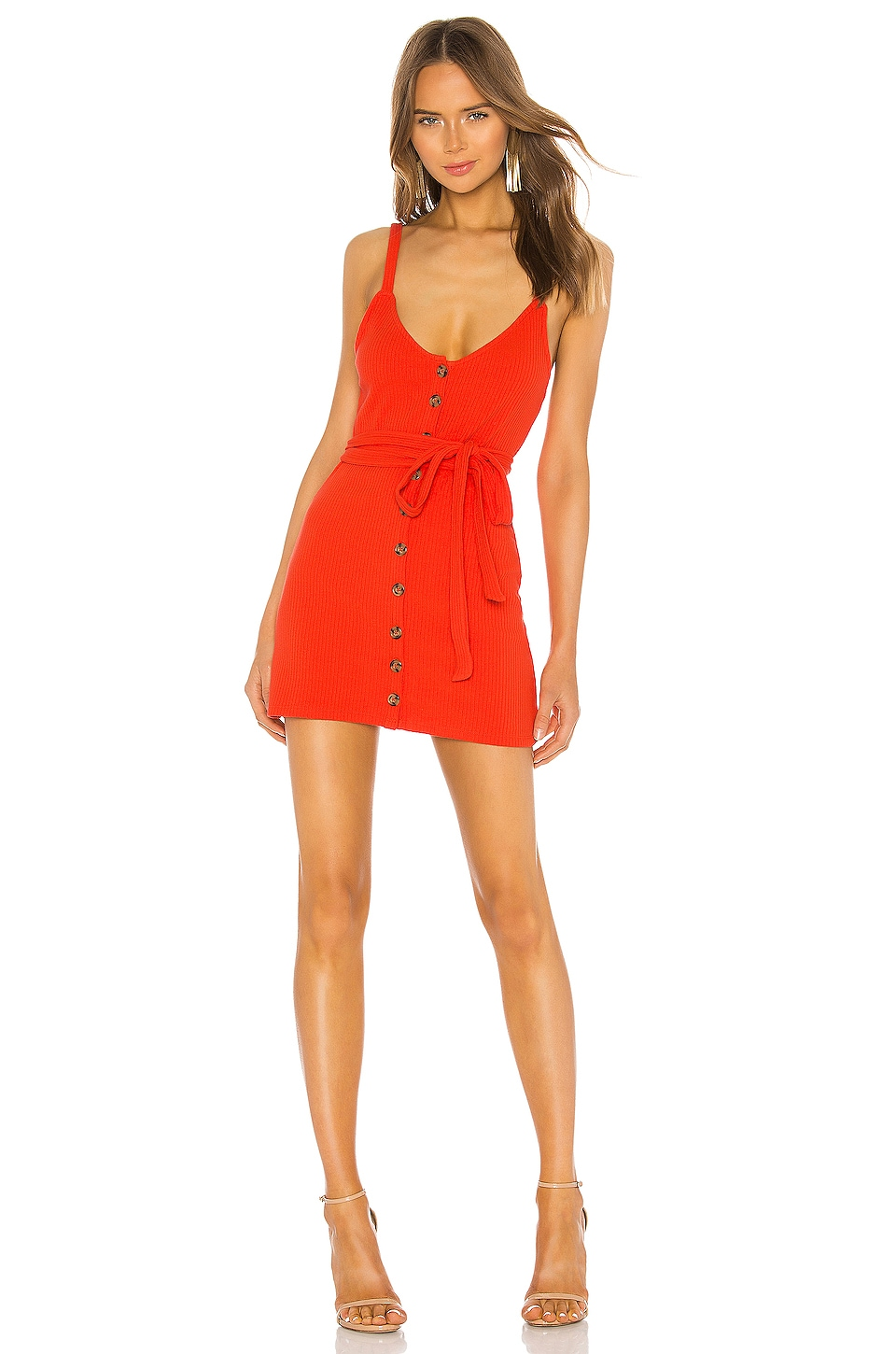 Privacy Please Shana Mini Dress in Red