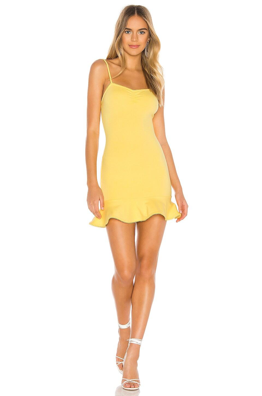 Privacy Please Oakwood Mini Dress in Canary Yellow