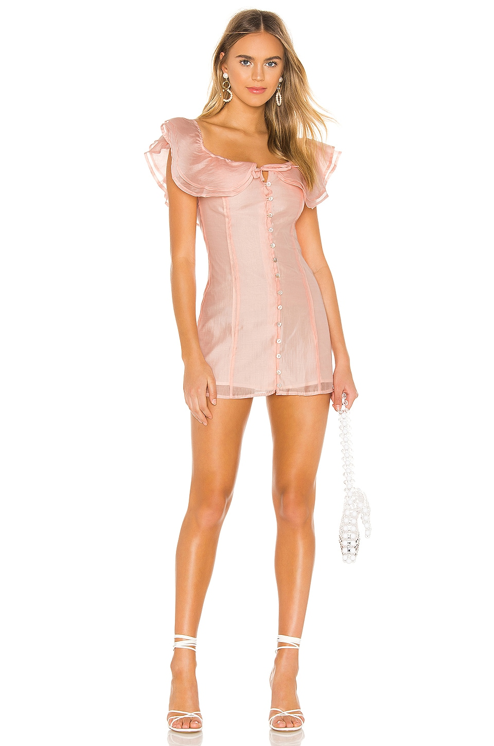 Privacy Please Sofie Mini Dress in Soft Pink