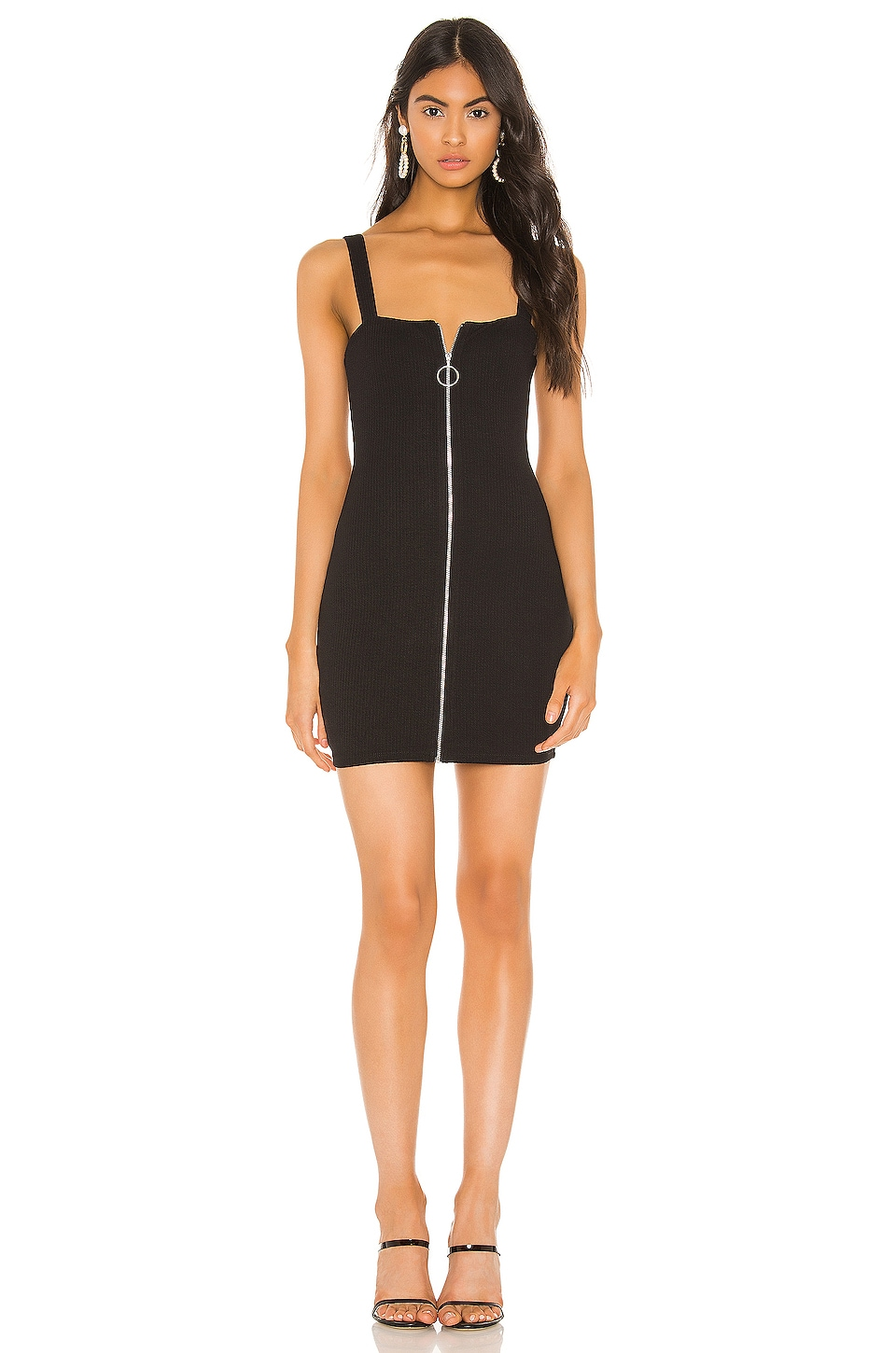 Privacy Please Darby Mini Dress in Black