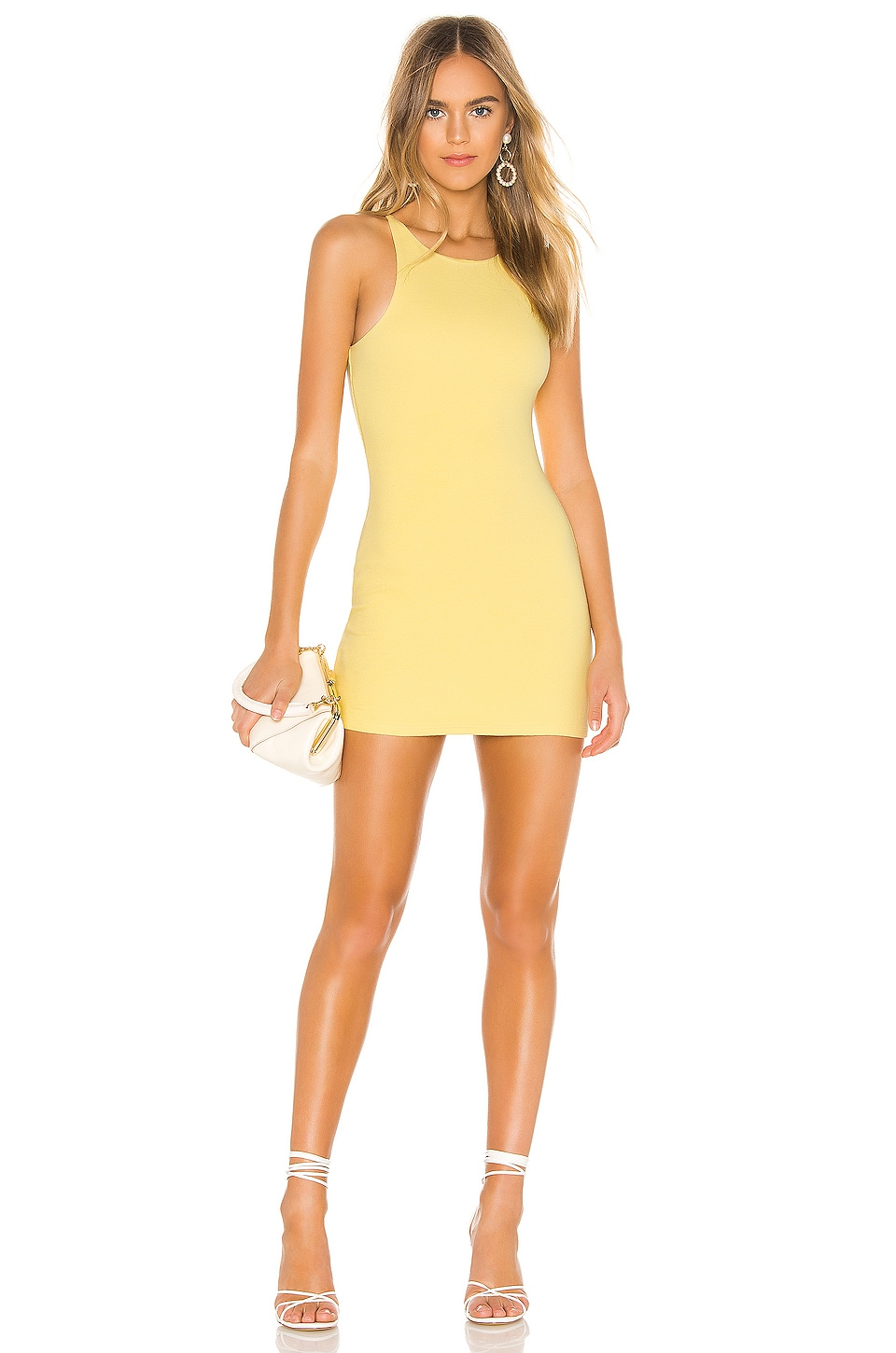Privacy Please Neilson Mini Dress in Citrus Yellow