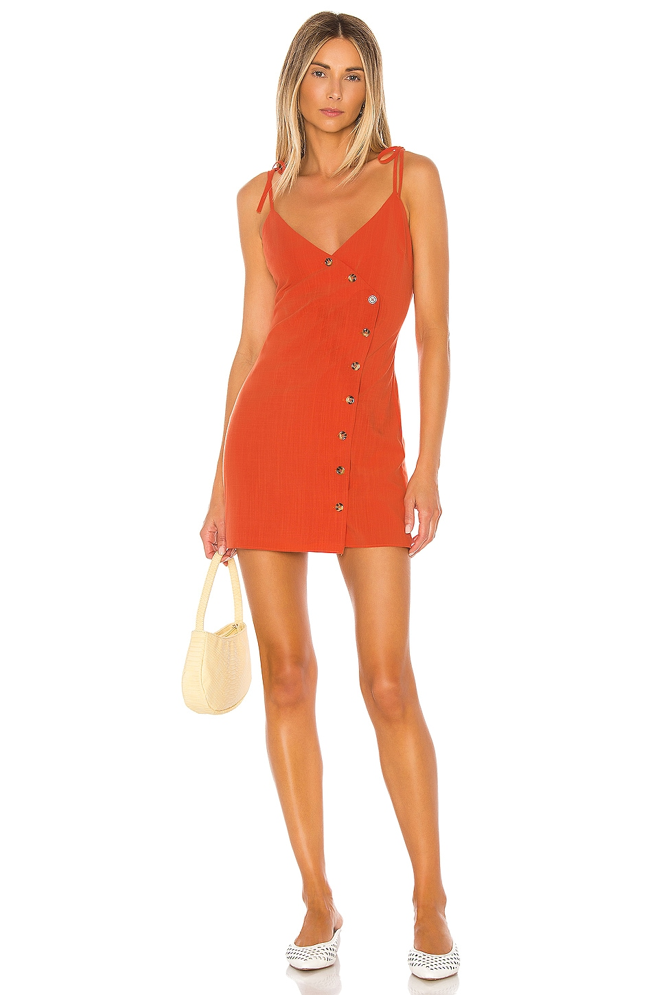 Privacy Please Abrielle Mini Dress in Red Orange