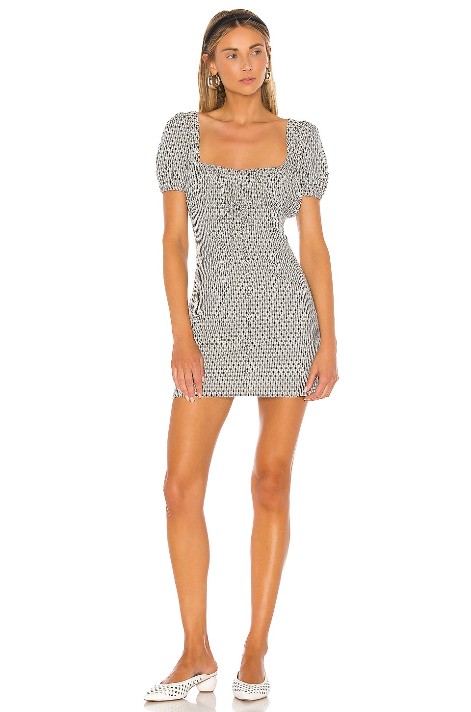 Privacy Please Elisa Mini Dress in Black & White