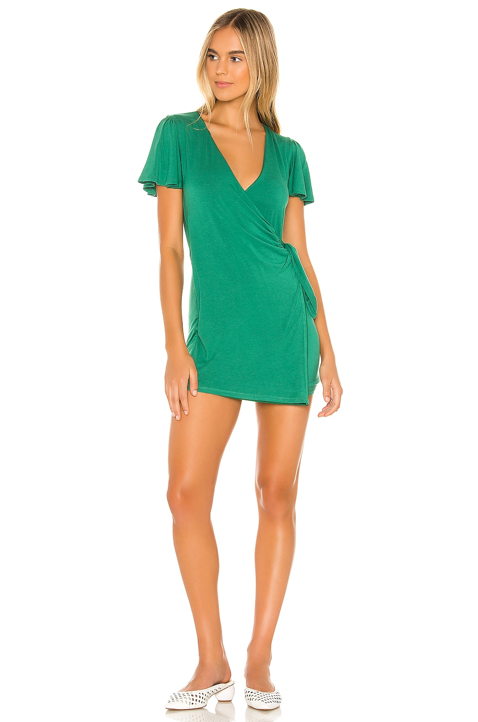 Privacy Please Jessa Mini Dress in Pine Green