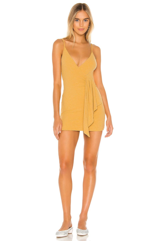 Privacy Please Fay Mini Dress in Mustard Yellow