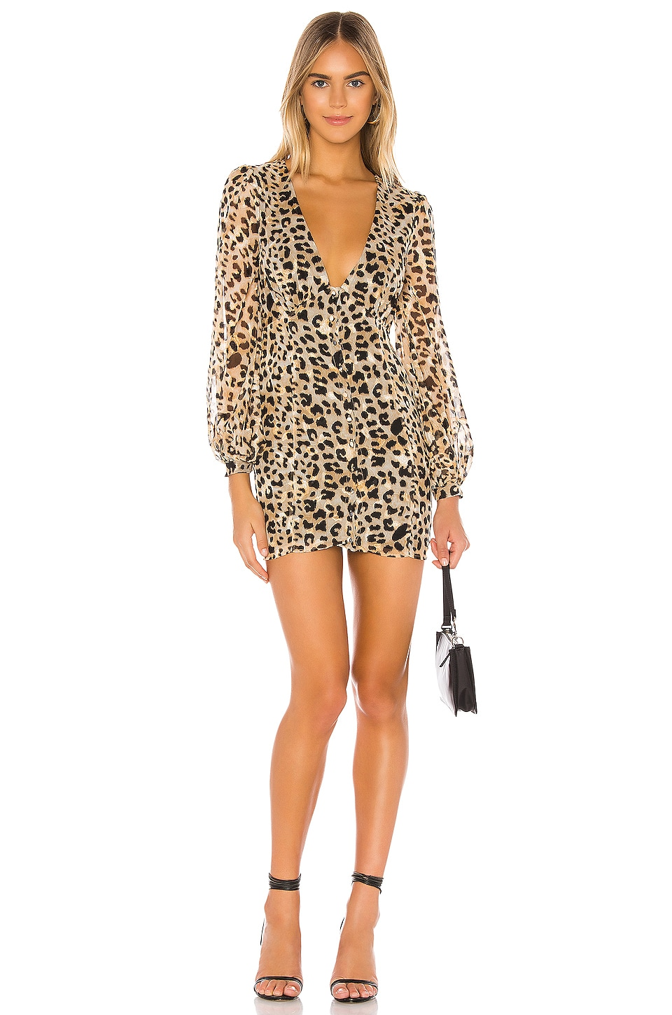 Privacy Please Julissa Mini Dress in Leopard