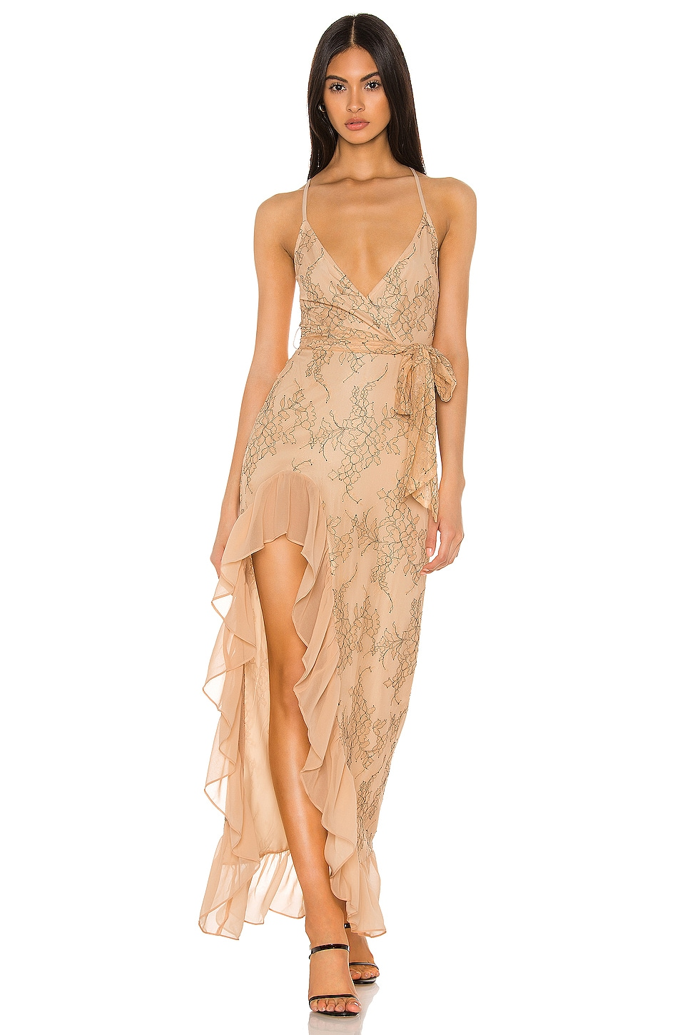 Privacy Please Esperanza Gown in Nude & Black
