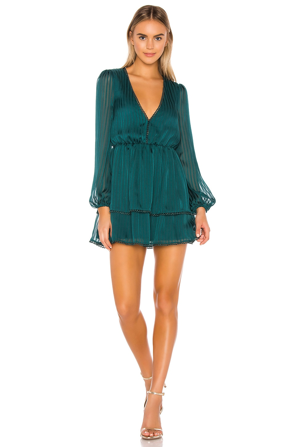 Privacy Please Alora Mini Dress in Moss Green
