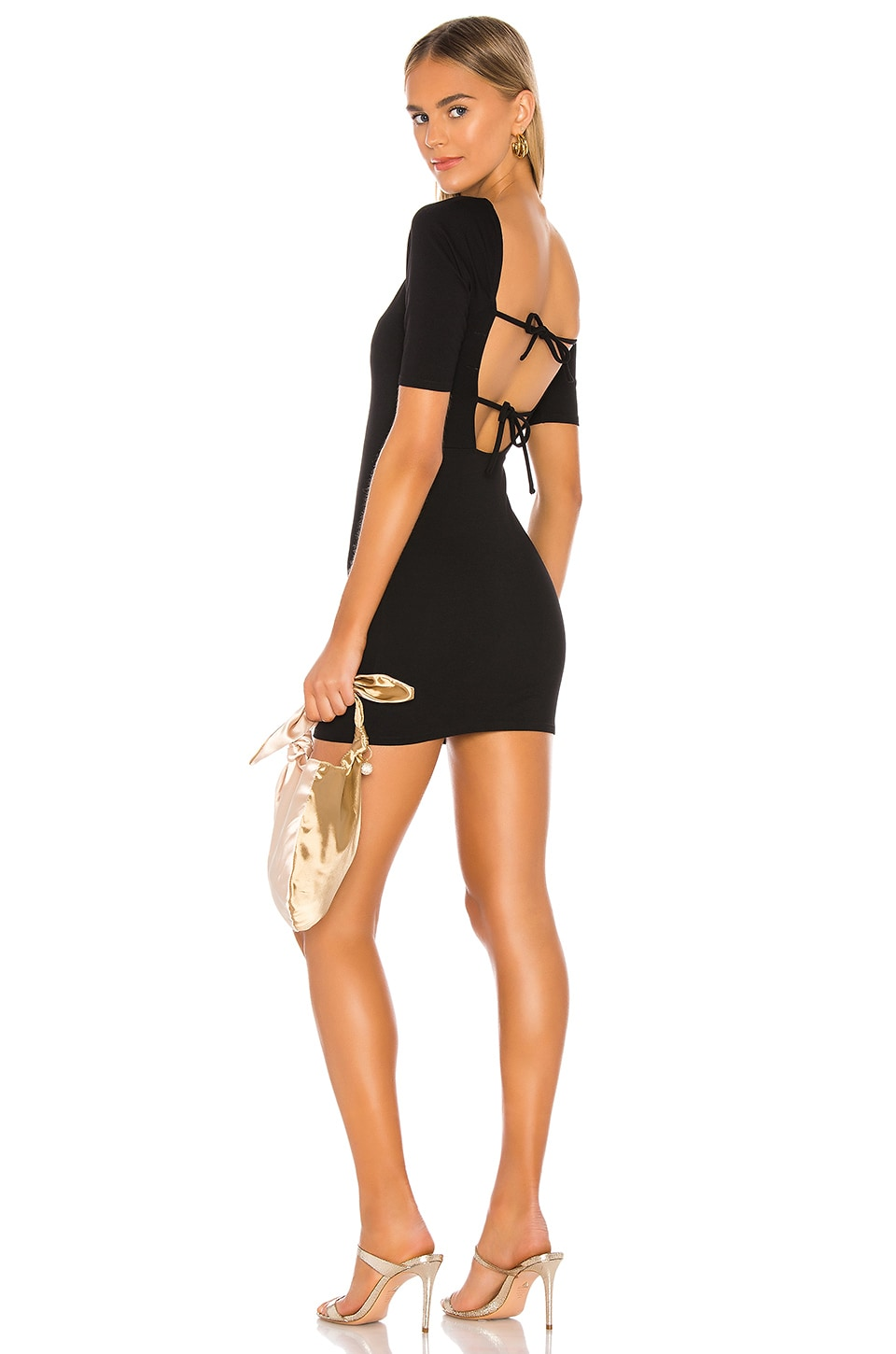 Privacy Please Rosalyn Mini Dress in Black