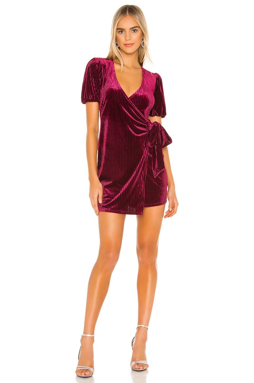 Privacy Please Laila Mini Dress in Burgundy