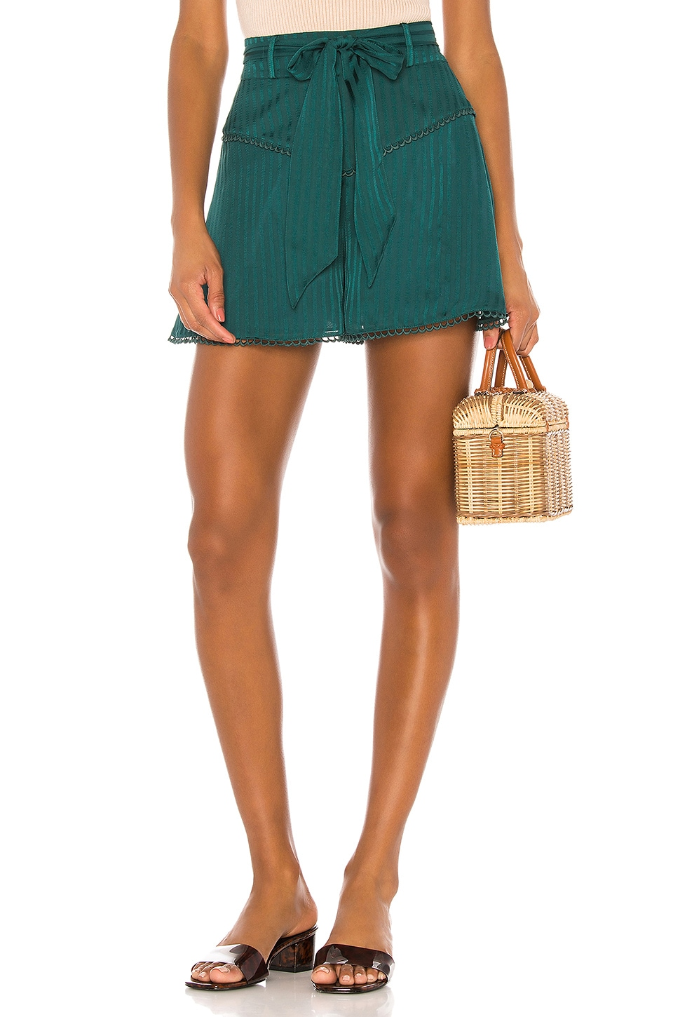 Privacy Please Sabrina Short in Moss Green