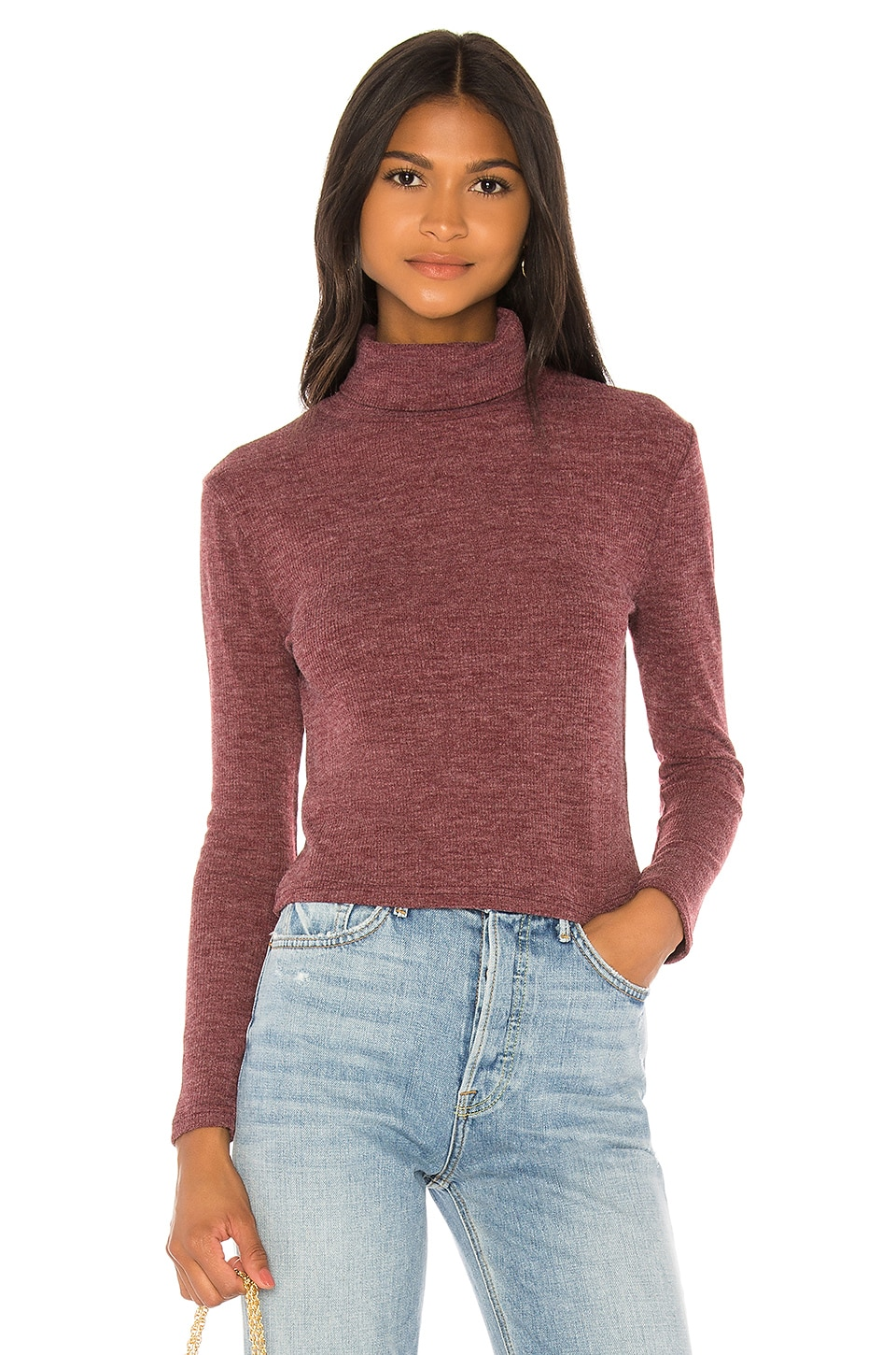 Privacy Please Kit Sweater in Burgundy