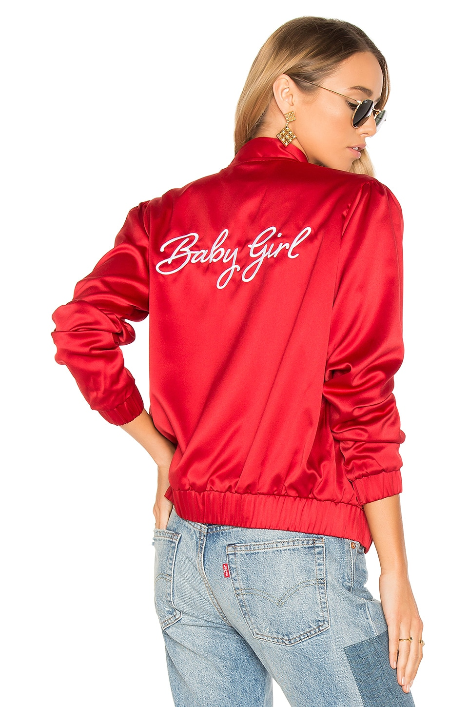 Privacy Please x REVOLVE Boulevard Bomber in Red