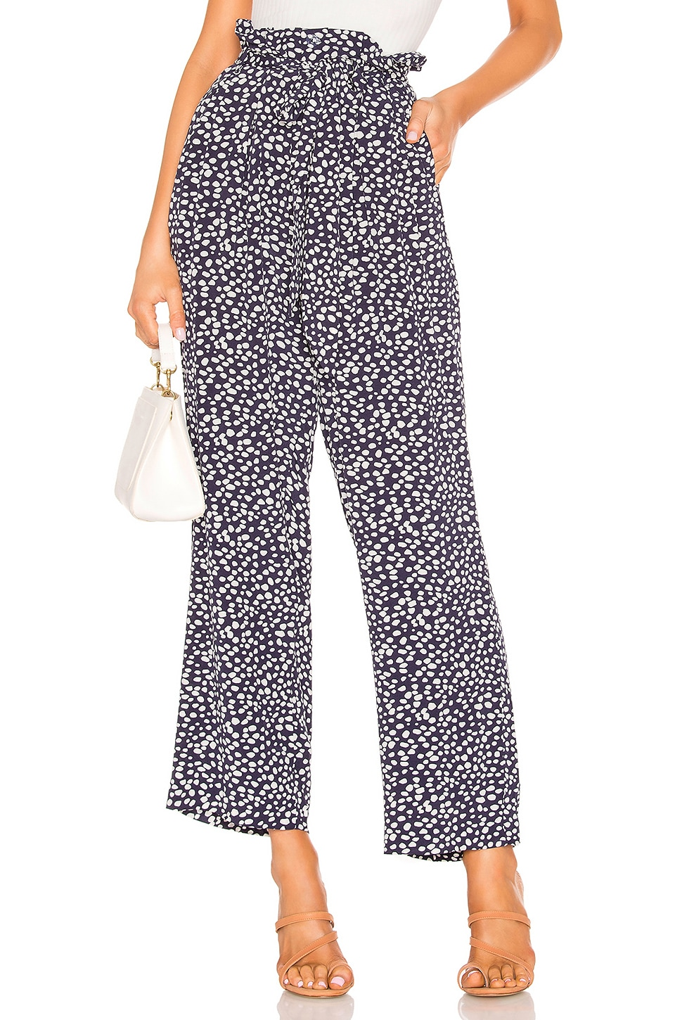 Privacy Please Venecia Pant in Navy Not Dot