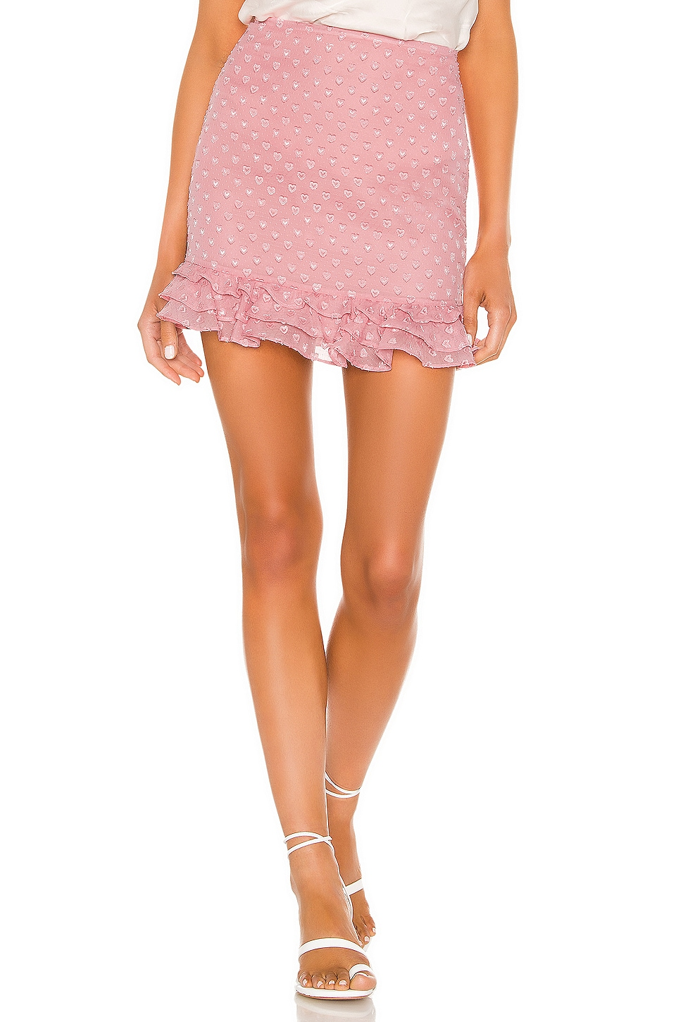 Privacy Please Rose Mini Skirt in Peony Pink
