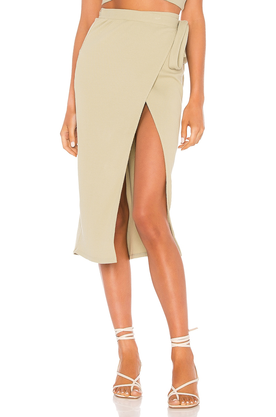 Privacy Please Catalina Midi Skirt in Sage Green
