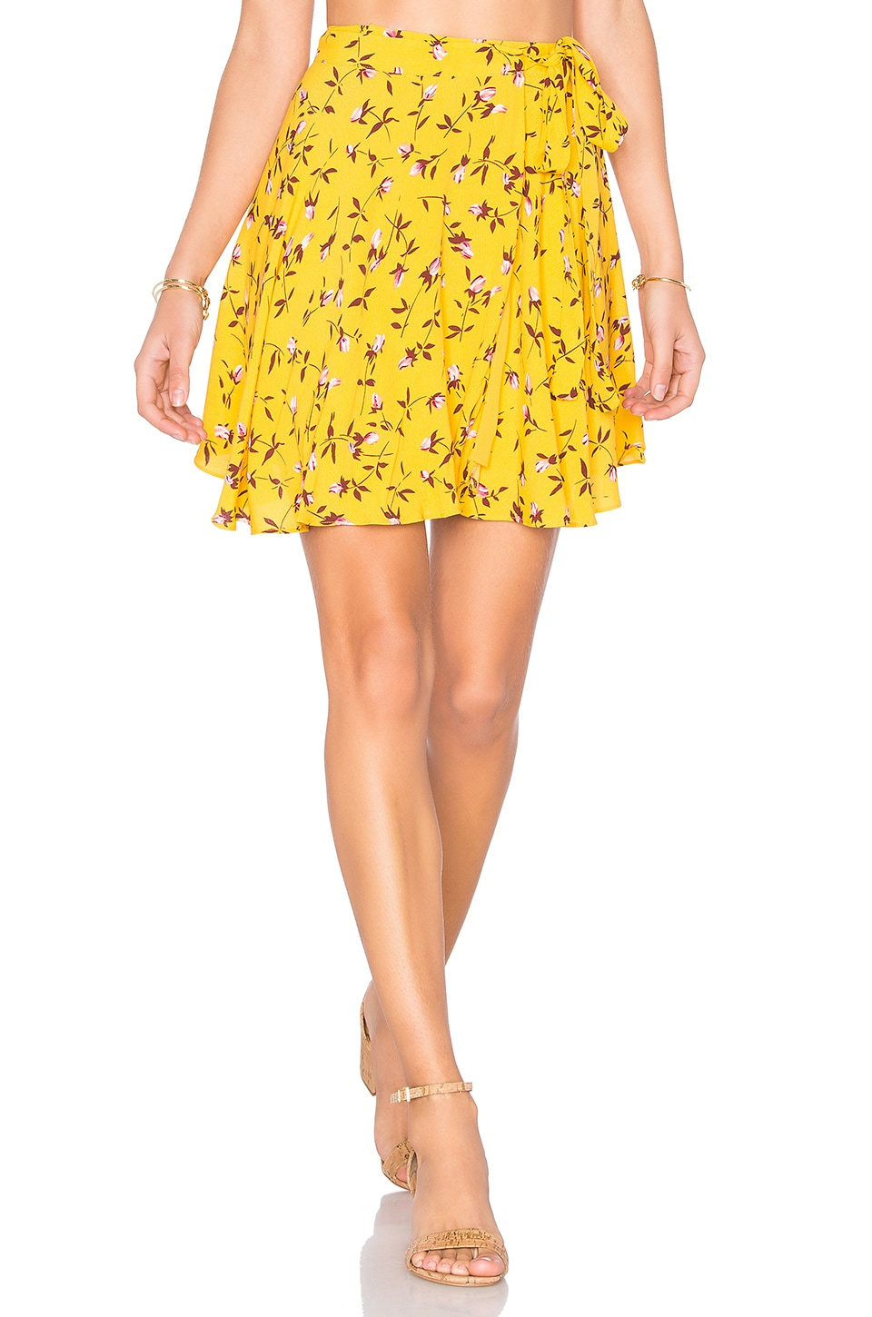 Privacy Please x REVOLVE Randall Skirt in Mustard