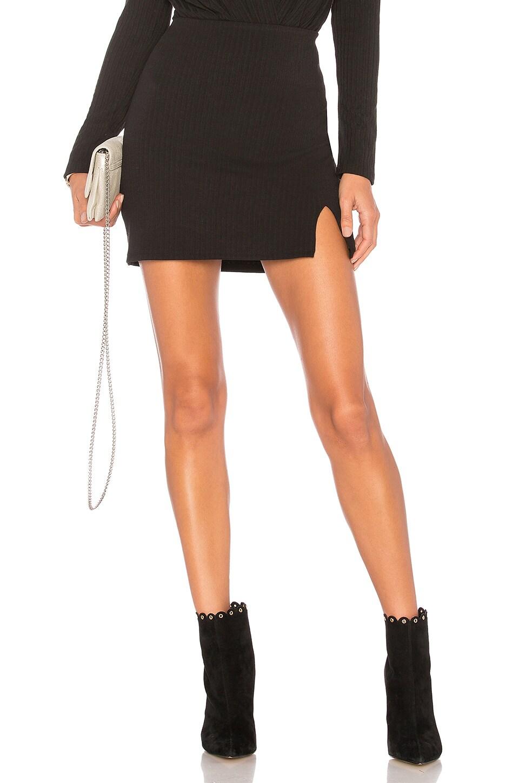 Privacy Please Springfield Mini Skirt in Black