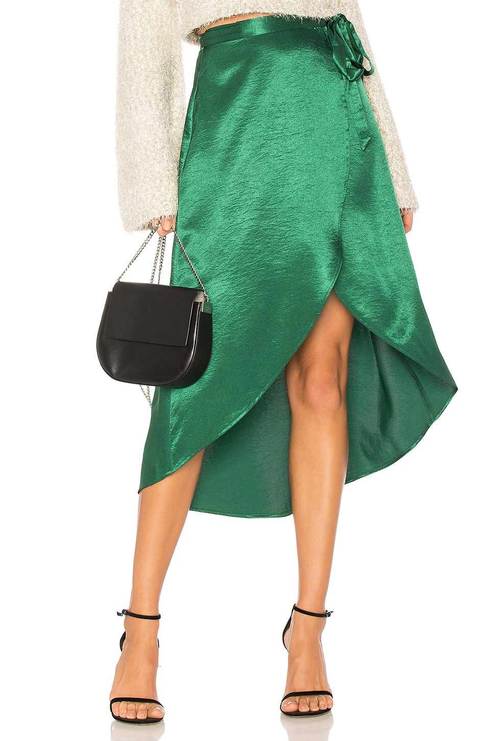 Privacy Please Java Wrap Skirt in Emerald