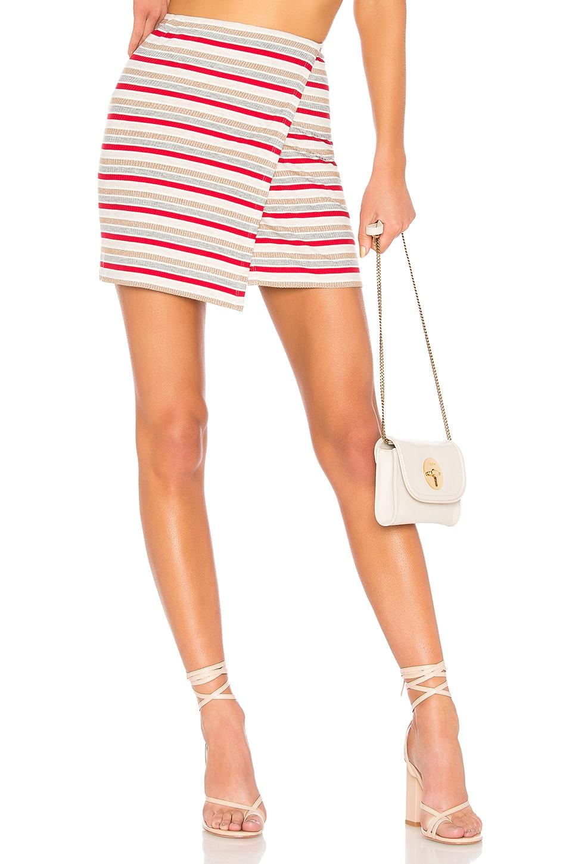 Privacy Please Mossor Skirt in Verano Stripe