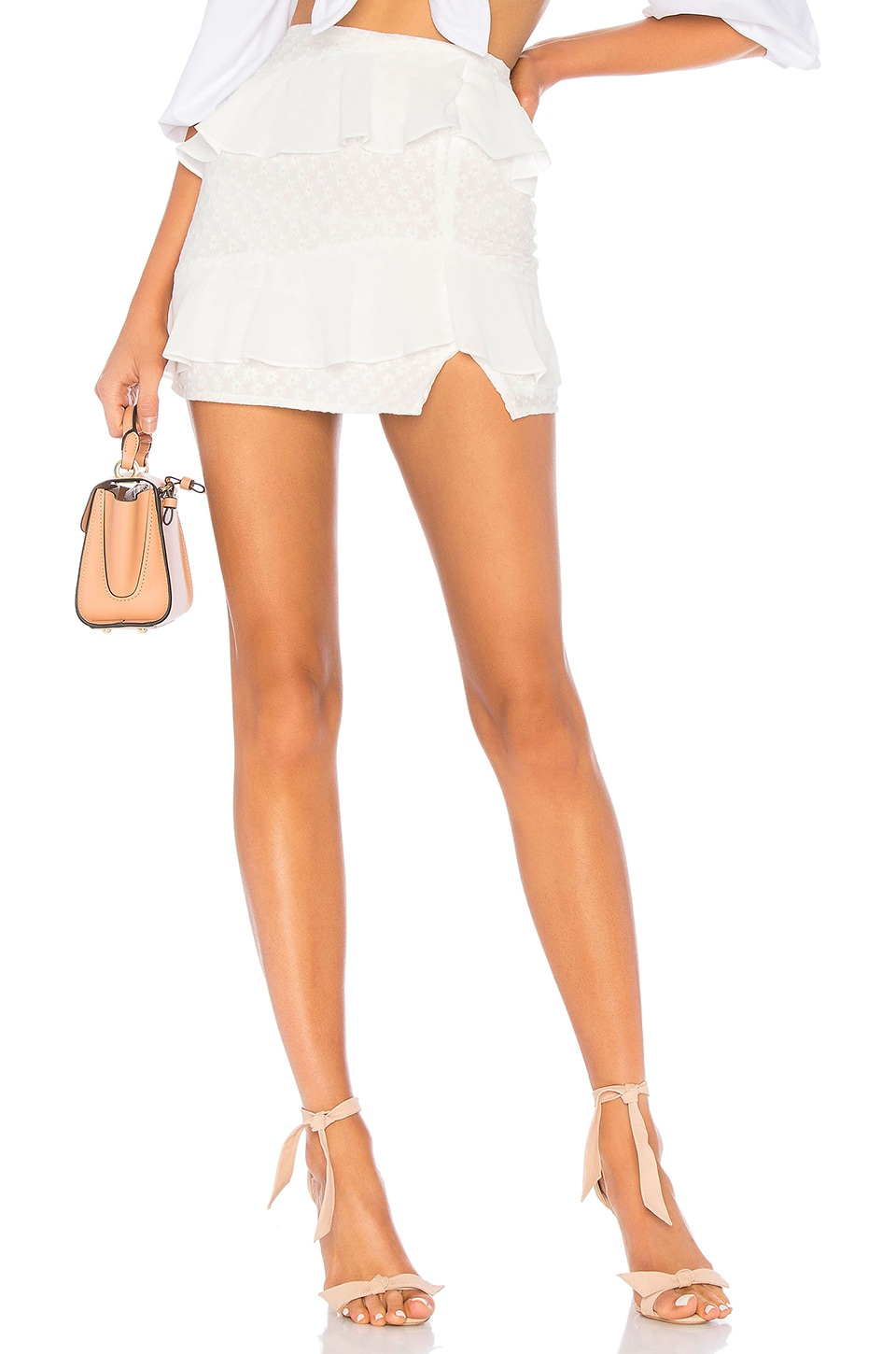 Privacy Please Klinedale Mini Skirt in White