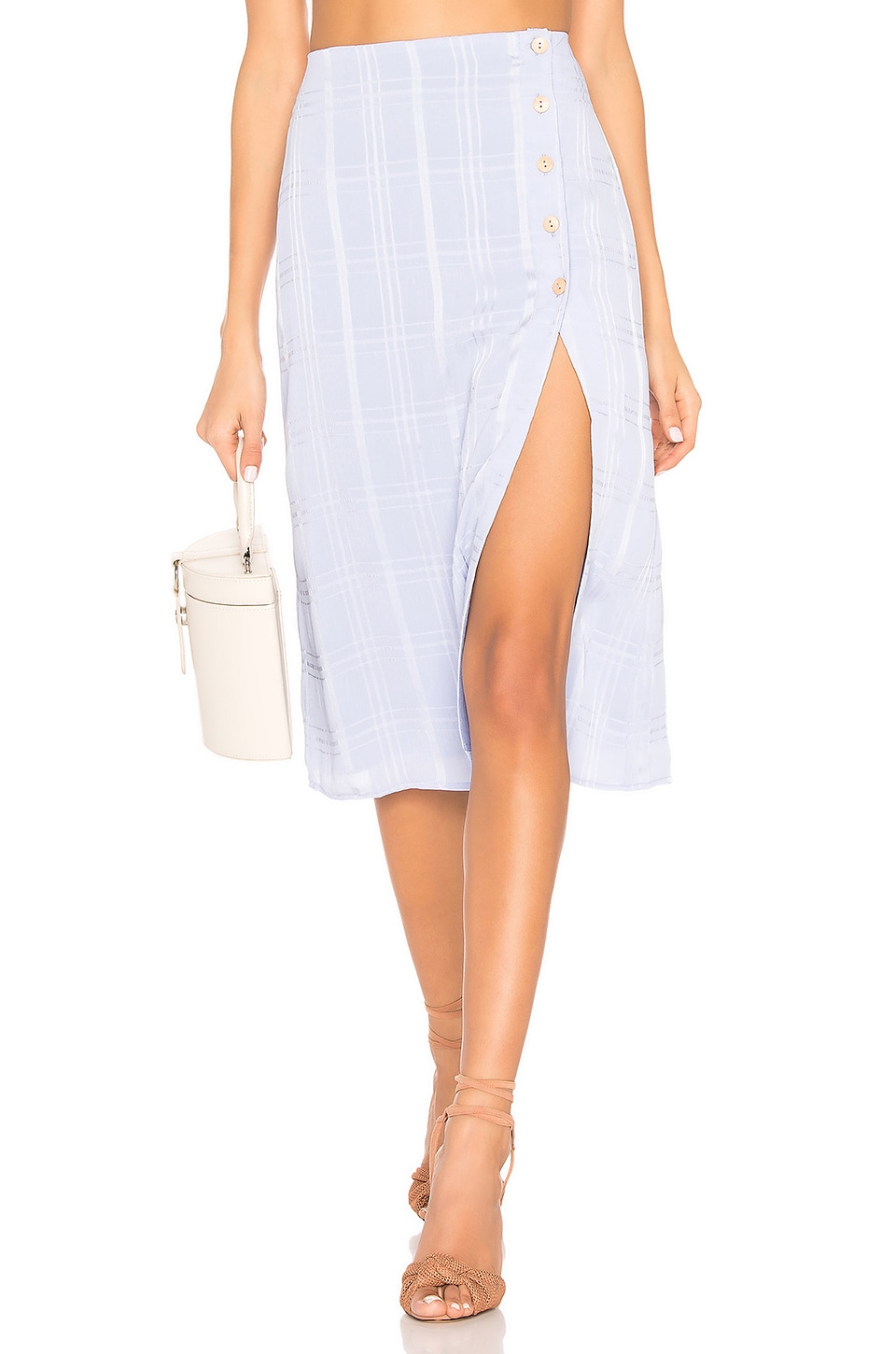 Privacy Please Burbank Skirt in Periwinkle