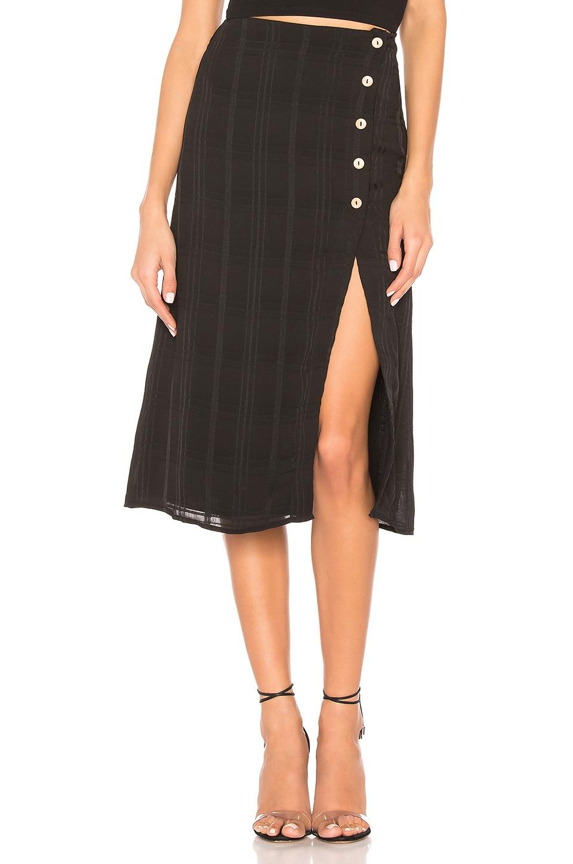 Privacy Please Burbank Skirt in Black