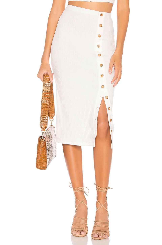Privacy Please Renee Midi Skirt in Coconut White