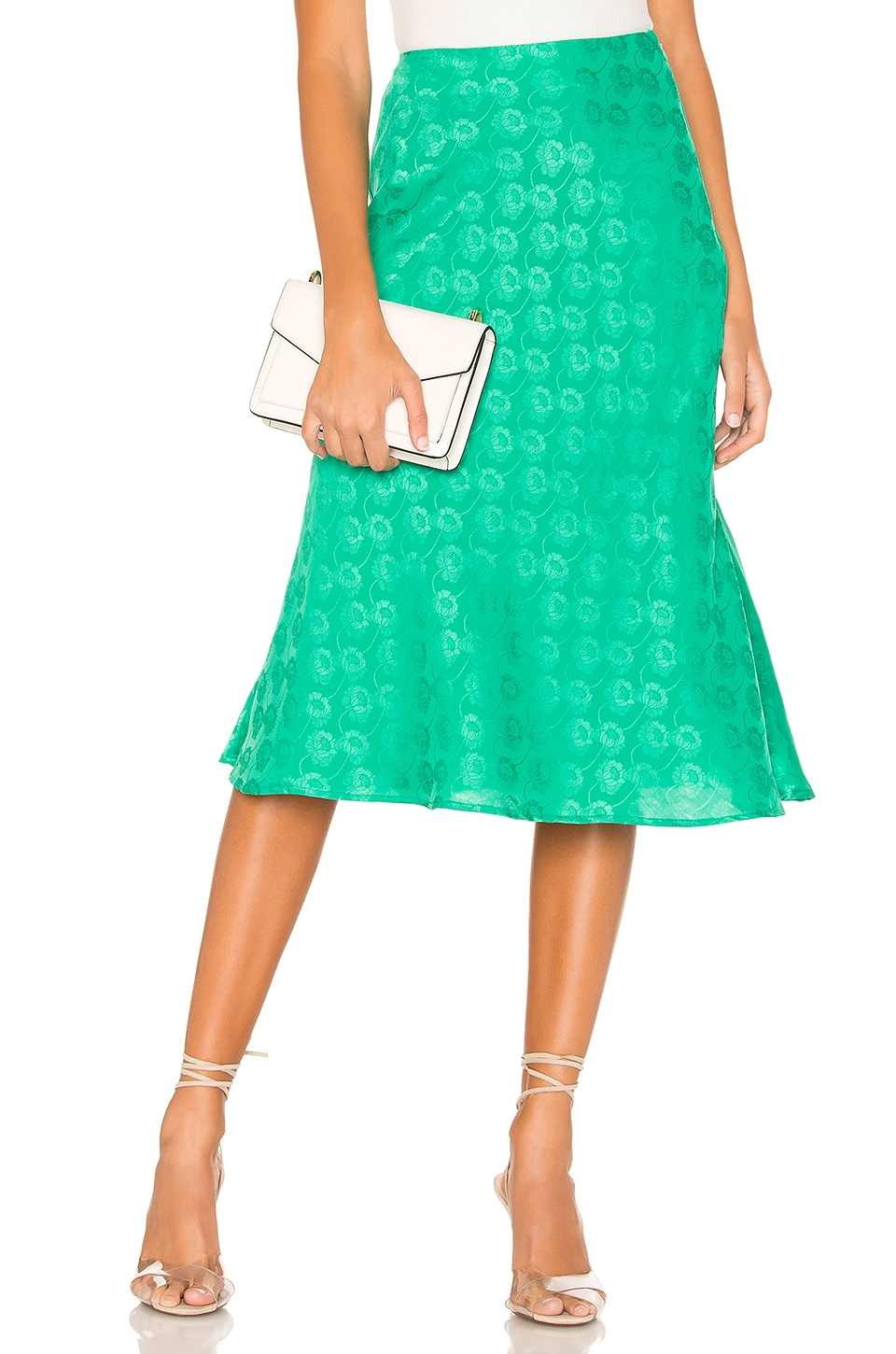 Privacy Please Liliana Midi Skirt in Kelly Green
