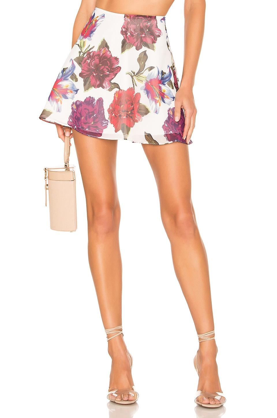 Privacy Please Palermo Mini Skirt in Lilac Floral