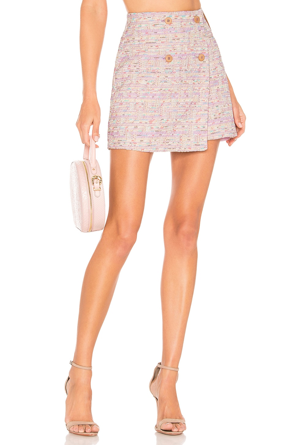 Privacy Please Miriam Mini Skirt in Lavender Multi