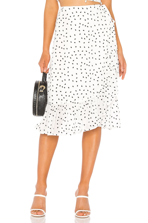 Privacy Please Kayla Midi Skirt in Ivory & Black