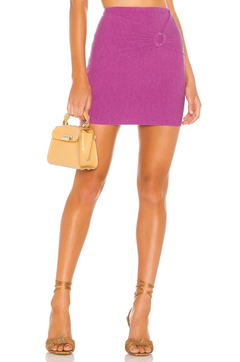 Privacy Please Liza Mini Skirt in Punch Purple