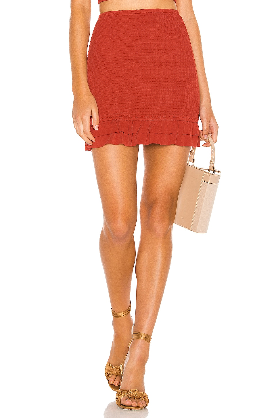 Privacy Please Gwen Mini Skirt in Coral