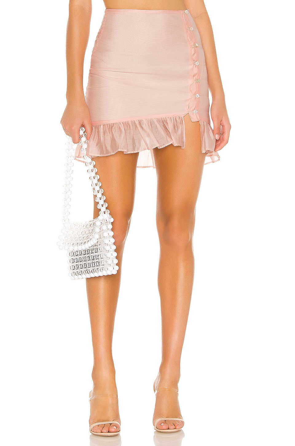 Privacy Please Lou Mini Skirt in Soft Pink
