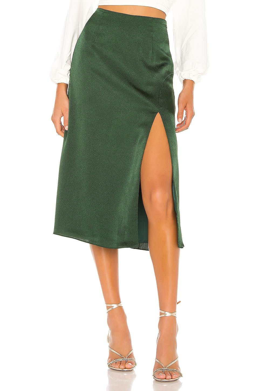 Privacy Please Marlowe Midi Skirt in Evergreen