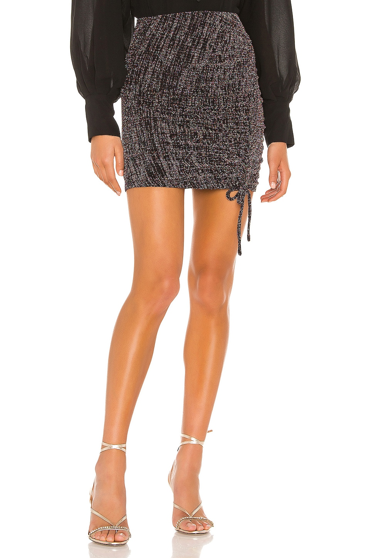 Privacy Please Hendrix Mini Skirt in Black Multi