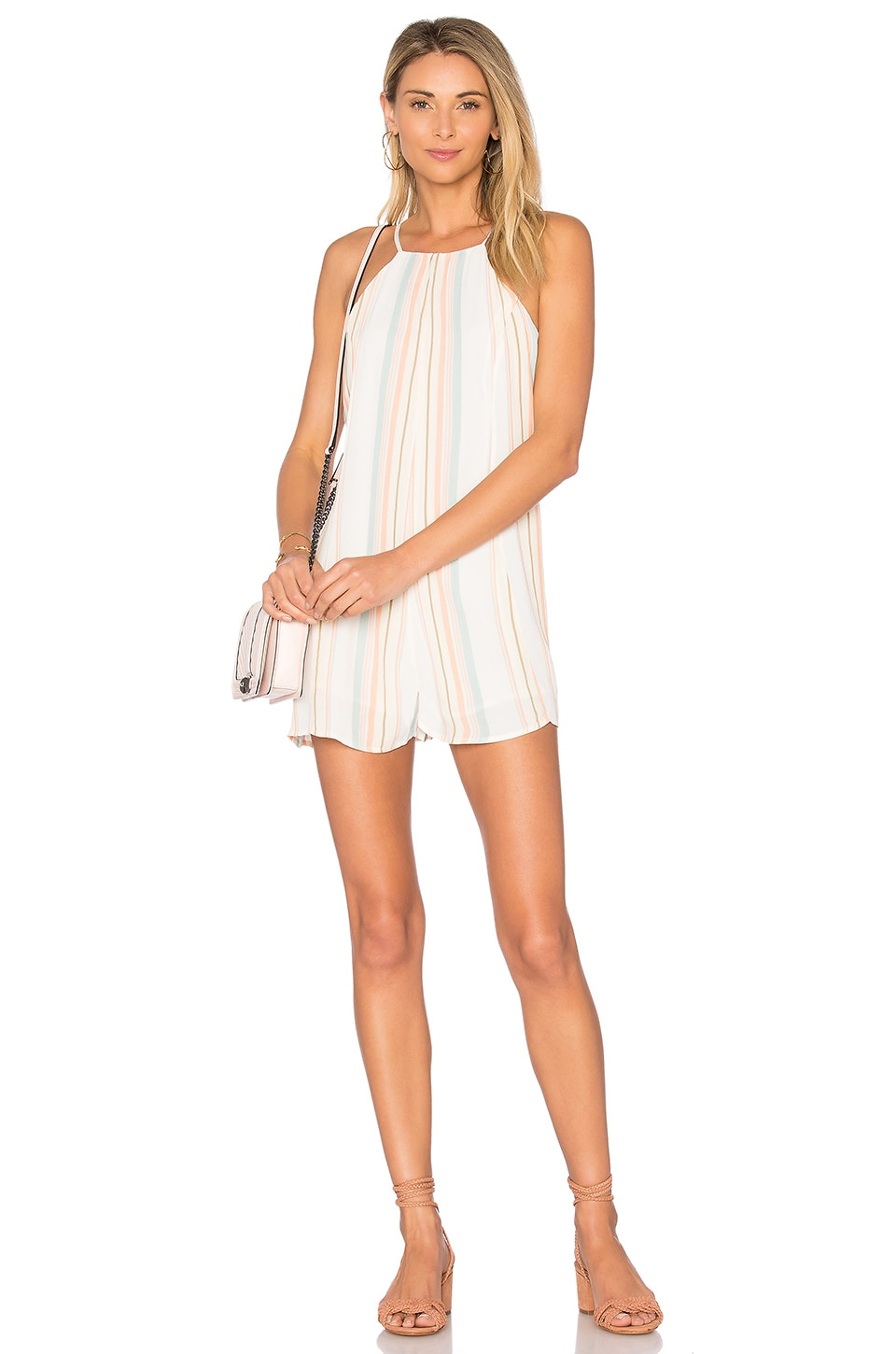 Privacy Please Lucca Romper in Multi Stripe