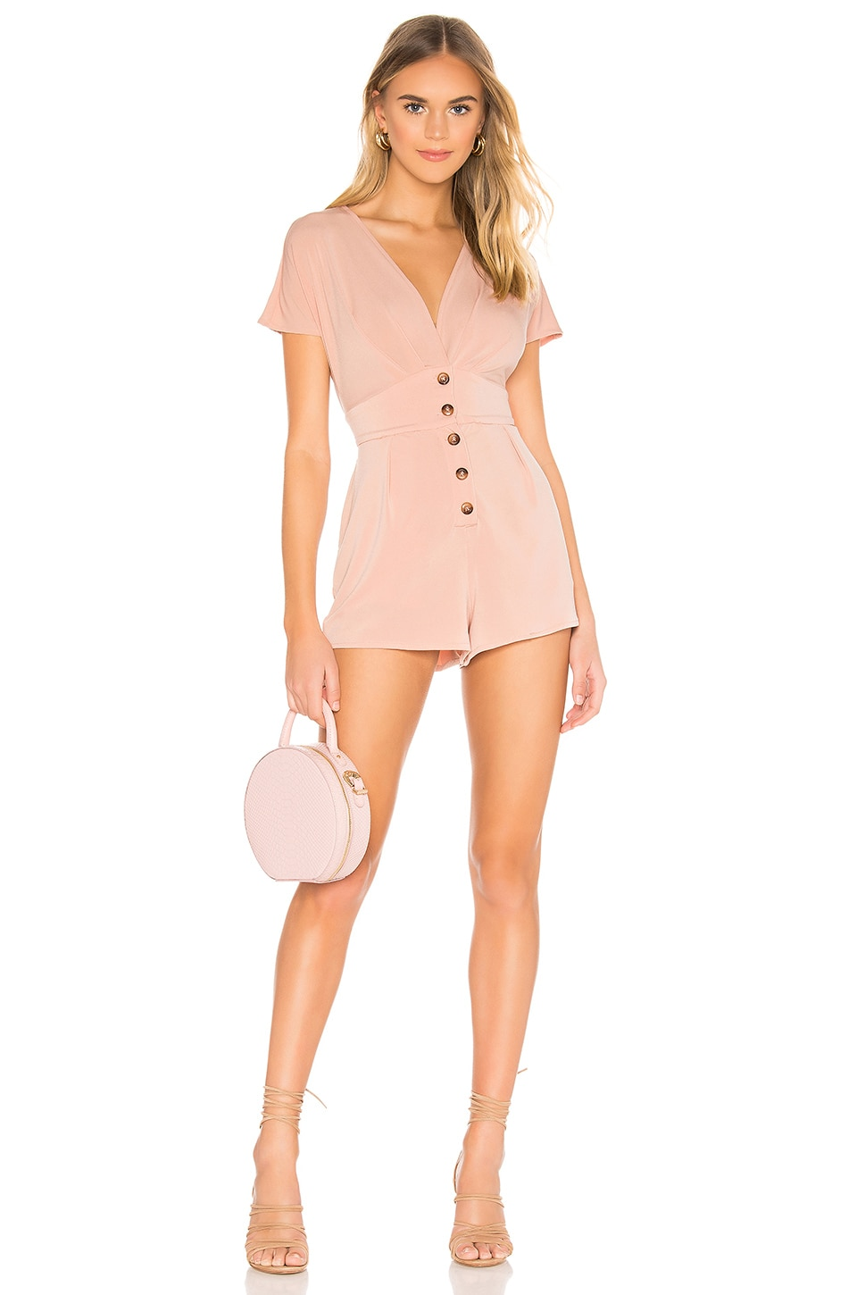 Privacy Please Cecilia Romper en Blush