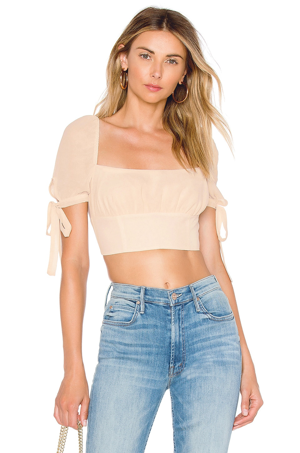 Privacy Please Mona Crop Top in Buttermilk
